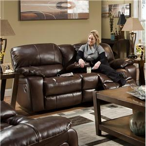 Albany 1750 Casual Glider Reclining Loveseat