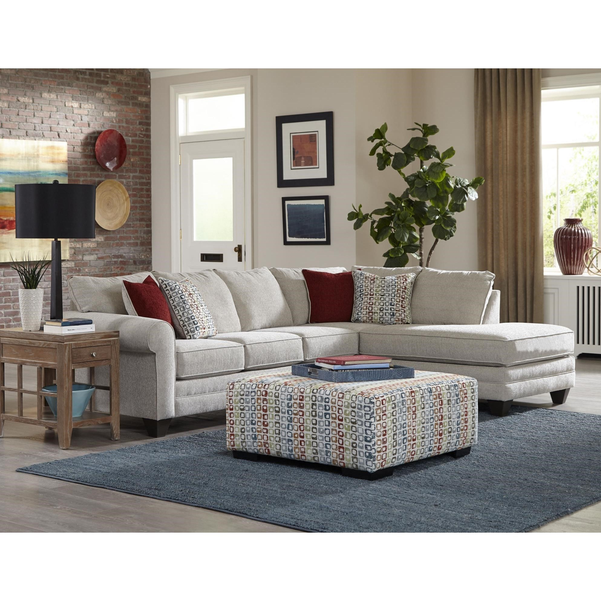 2214 2 PC Sectional Sofa by Albany at A1 Furniture & Mattress