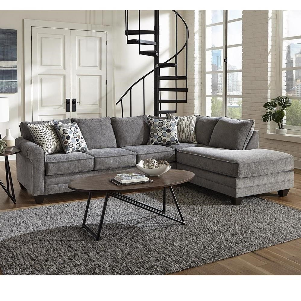 2214 2 PC Sectional Sleeper Sofa by Albany at A1 Furniture & Mattress