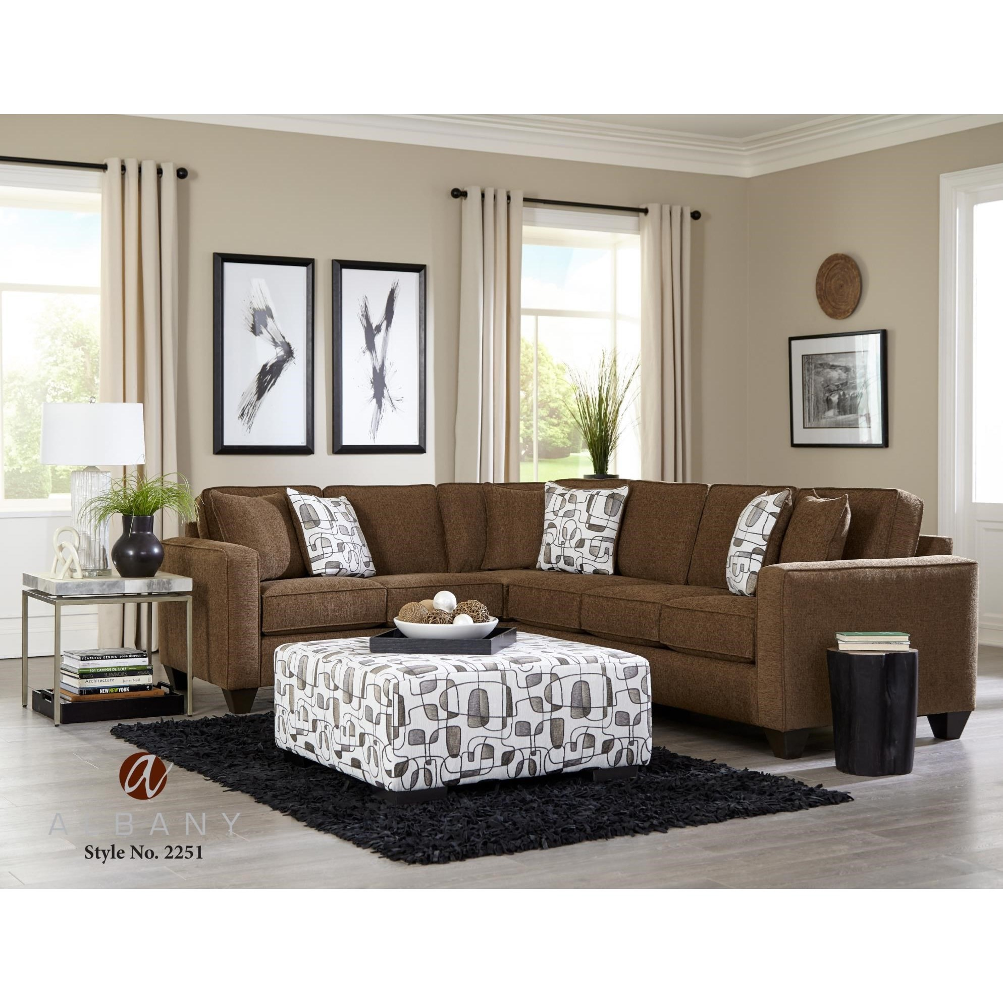 2251 2 PC Sectional Sofa by Albany at A1 Furniture & Mattress