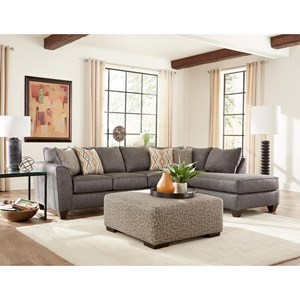 Contemporary Graphite Sectional with Chaise