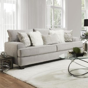 Transitional Sofa with Wide Track Arms
