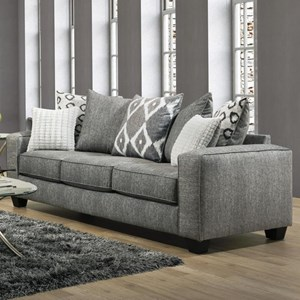 Casual Modern Sofa with Pillow Back