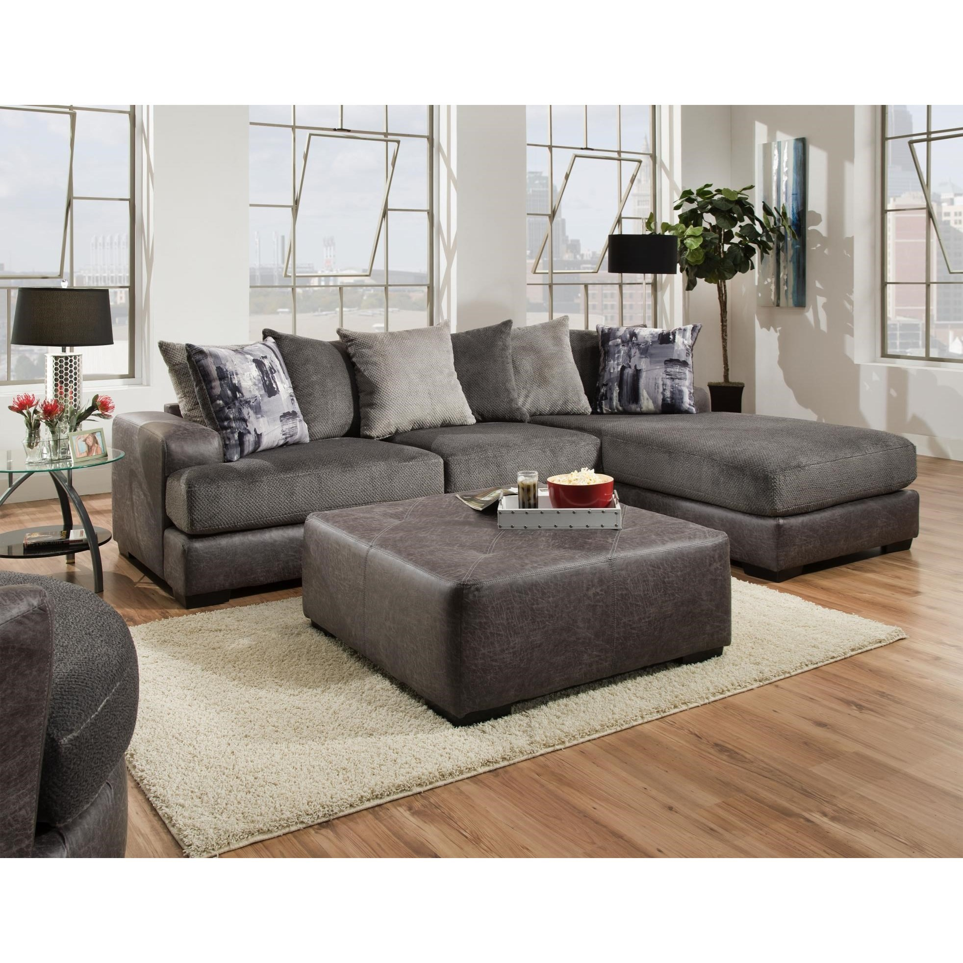682 2 PC Sectional Sofa by Albany at A1 Furniture & Mattress