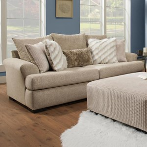 Casual Sofa with Large Flare Tapered Arms