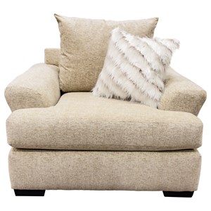 Casual Chair with Large Flare-Tapered Arms