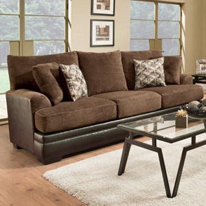 Transitional Two-Tone Sofa