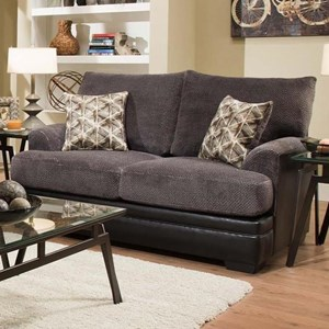 Transitional Two-Tone Loveseat