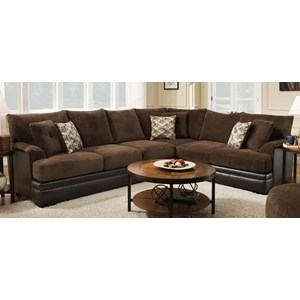 2 Piece Two-Tone Sectional