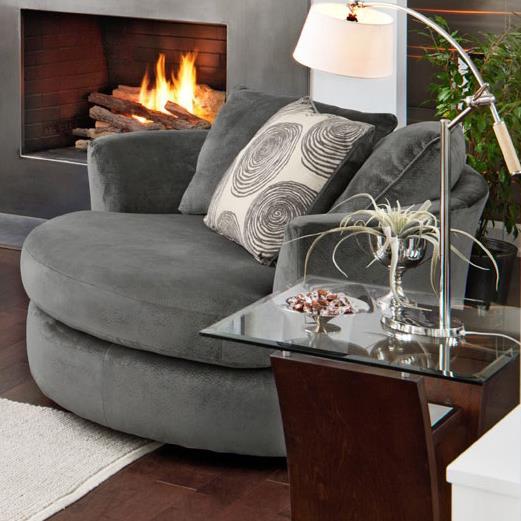 Transitional Swivel Chair