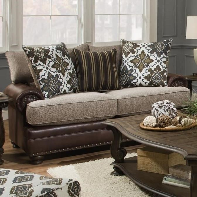 8647 Traditional Loveseat by Albany at A1 Furniture & Mattress