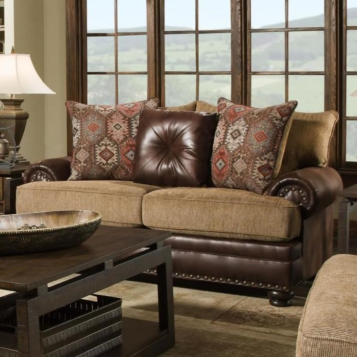 8649 Traditional Loveseat by Albany at A1 Furniture & Mattress