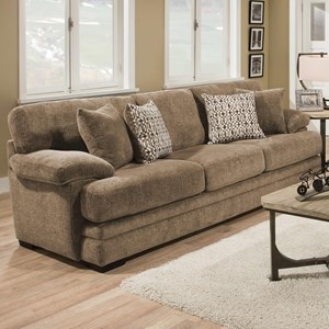Casual Sofa with Plush Pillow Arms