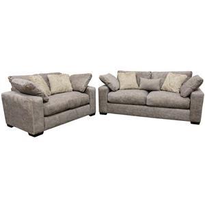 Albany Nova Stone Plus Sofa and Loveseat