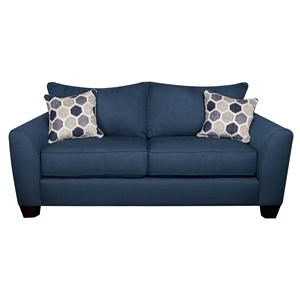 Loveseat with Decorative Accent Pillows