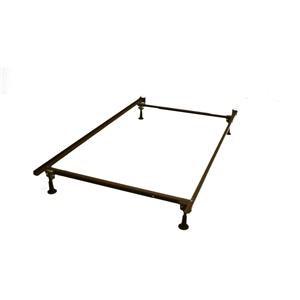 ZDP Metal Bed Frame-Twin/Full Size w/ Carpet Glides