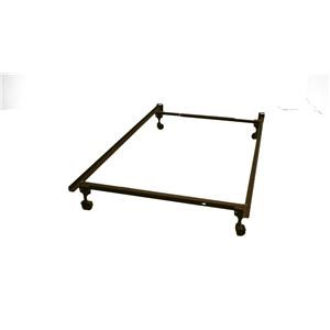 FM141RR Metal Bed Frame-Twin/Full Size w/ Casters