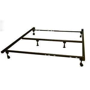 FM6L322RR Metal Bed Frame-Twin/Full/Queen Size (Extra Support) w/ Casters