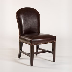 Dining Side Chair with Leather Back and Seat