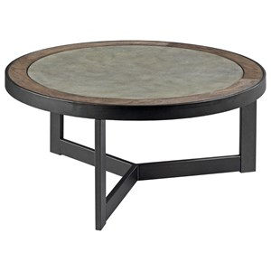 Contemporary Round Cocktail Table