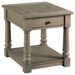 Transitional Rectangular Drawer End Table