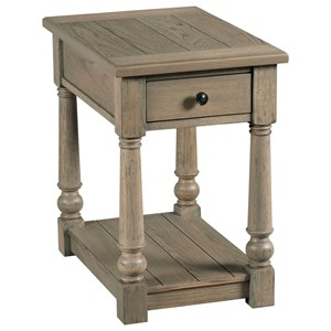 Transitional Chairside Table with Drawer