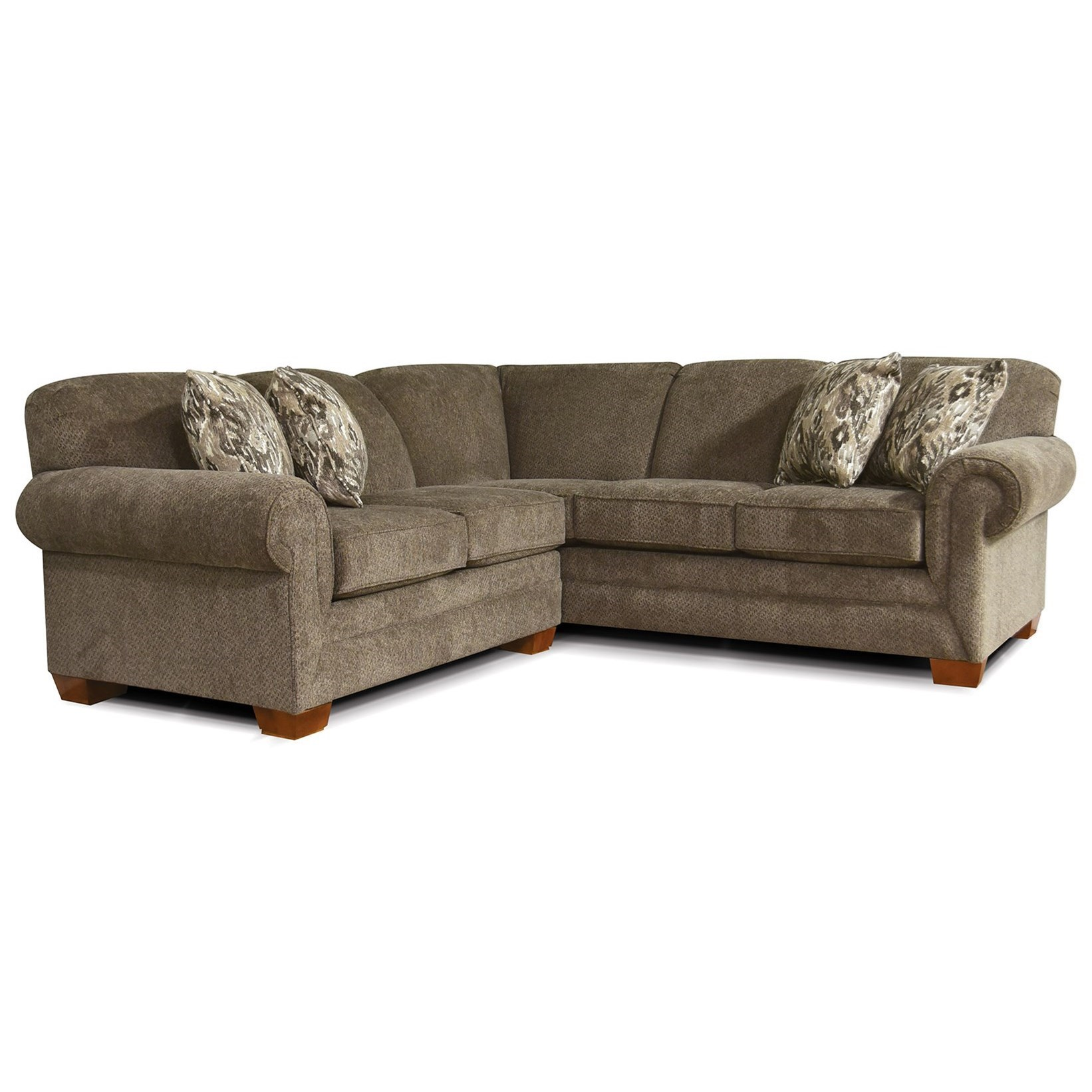 V140 Small Sectional Sofa for 3-4 People by Alexvale at Northeast Factory Direct