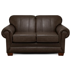 Transitional Leather Loveseat