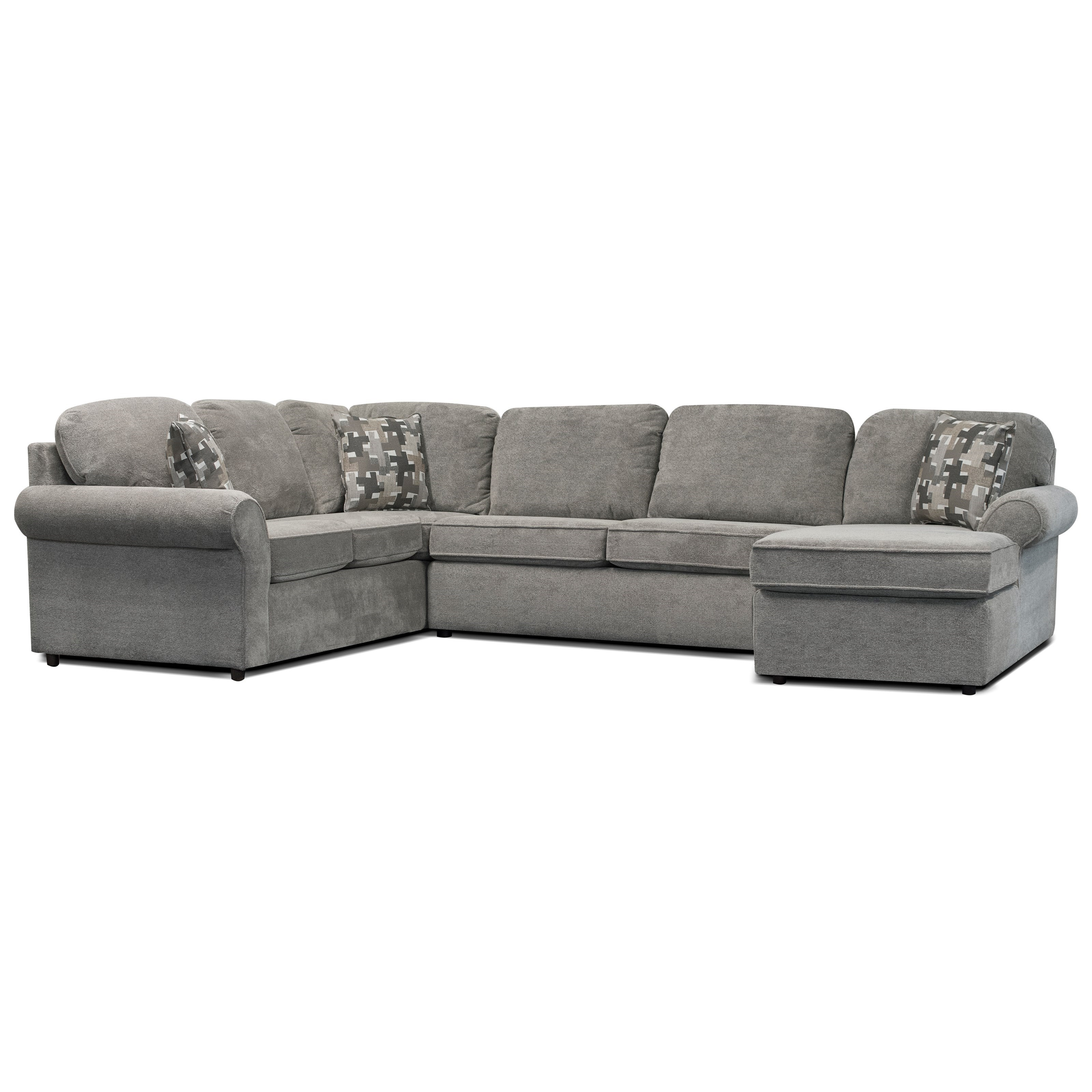 V250 Sectional with Chaise by Alexvale at Northeast Factory Direct