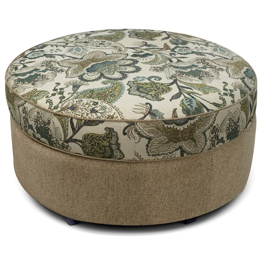 V357 Round Storage Ottoman by Alexvale at Northeast Factory Direct