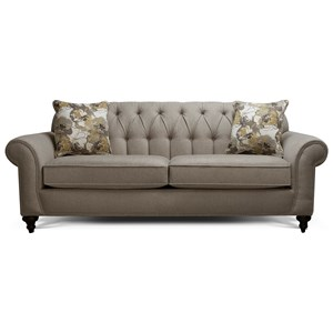 Sofa with Button Tufted Back
