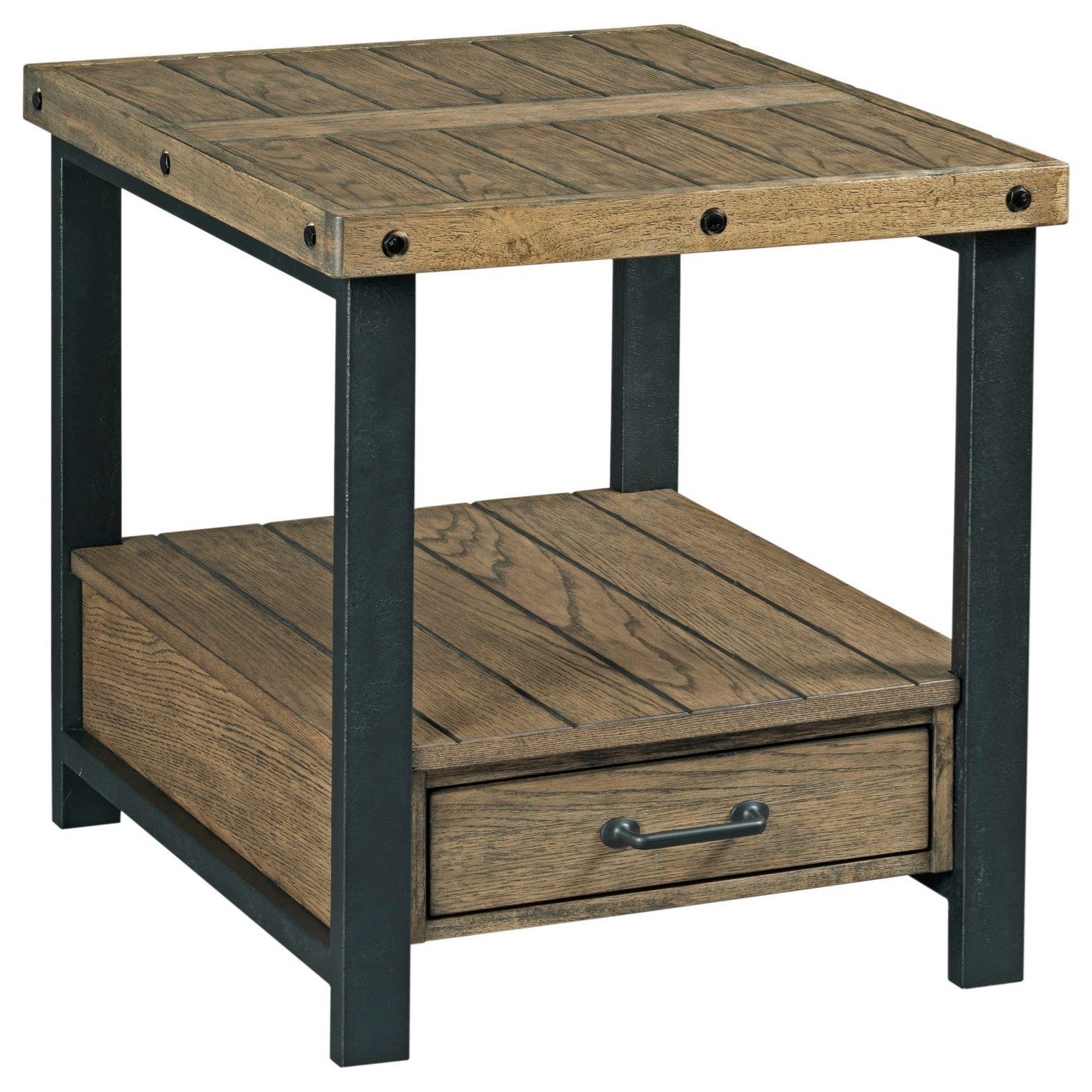 Workbench Rectangular Drawer End Table by Alexvale at Northeast Factory Direct