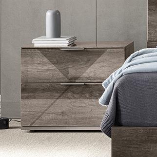 Favignana 2-Drawer Nightstand by Alf Italia at Upper Room Home Furnishings