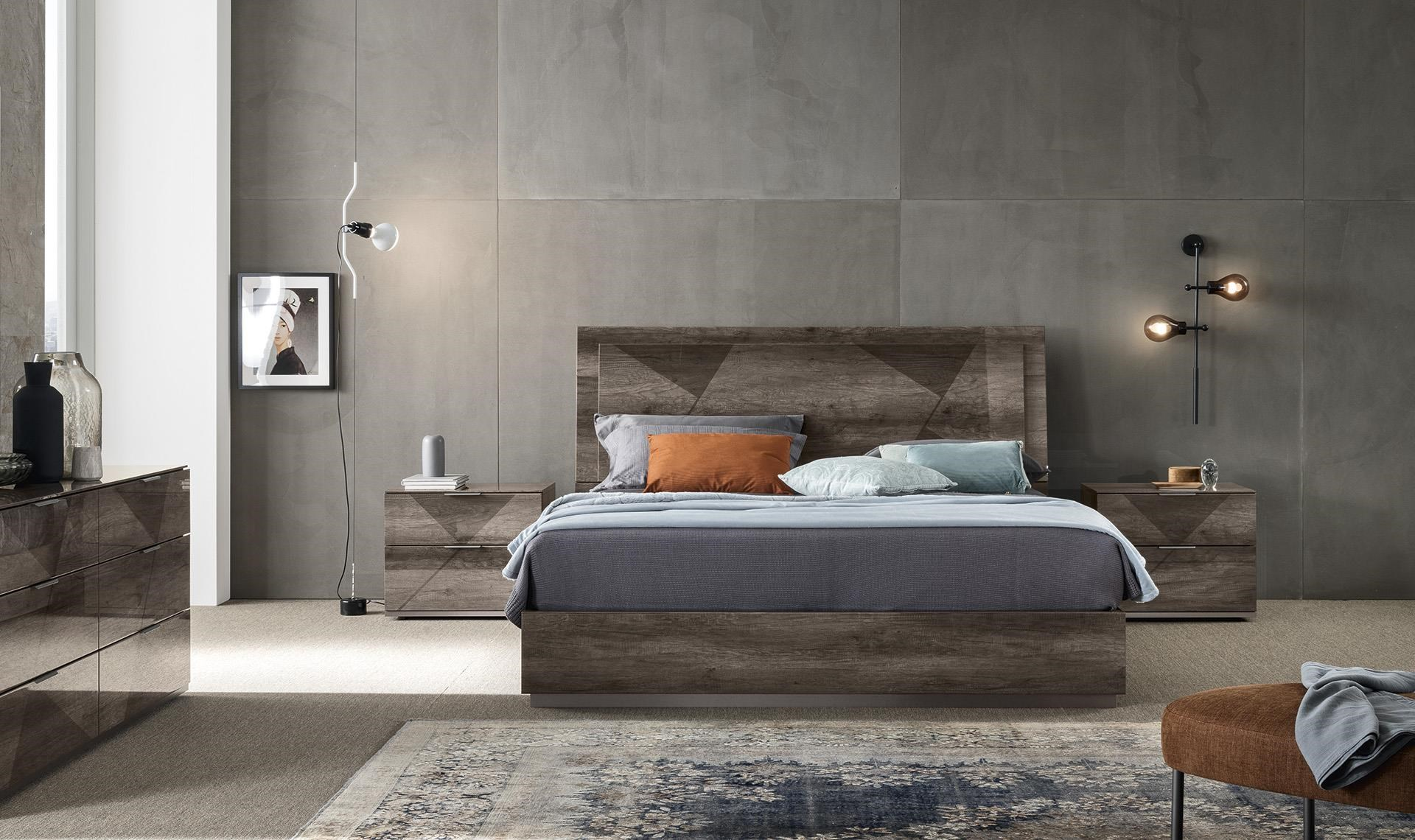Favignana Queen Bed with Low Profile Base by Alf Italia at Upper Room Home Furnishings