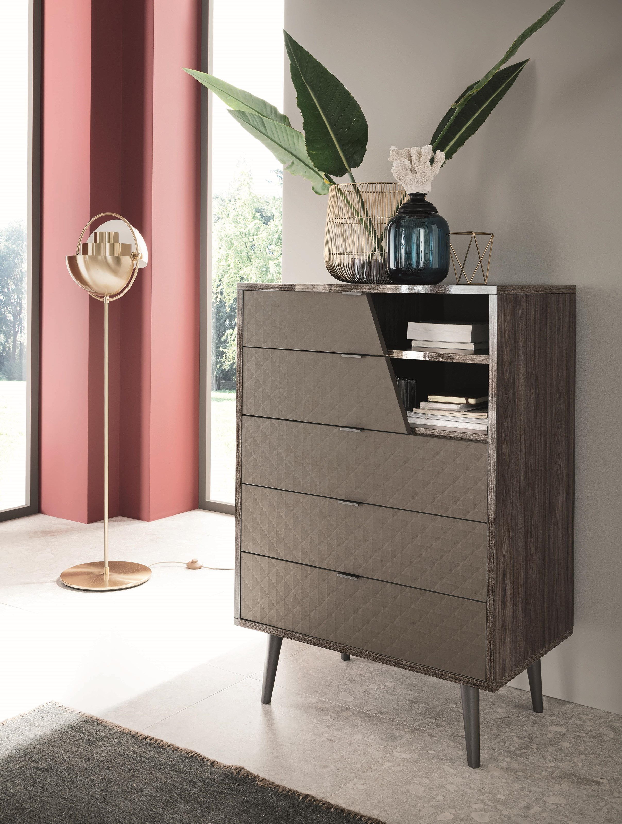 Frida 5 Drawer Chest by Alf Italia at Red Knot