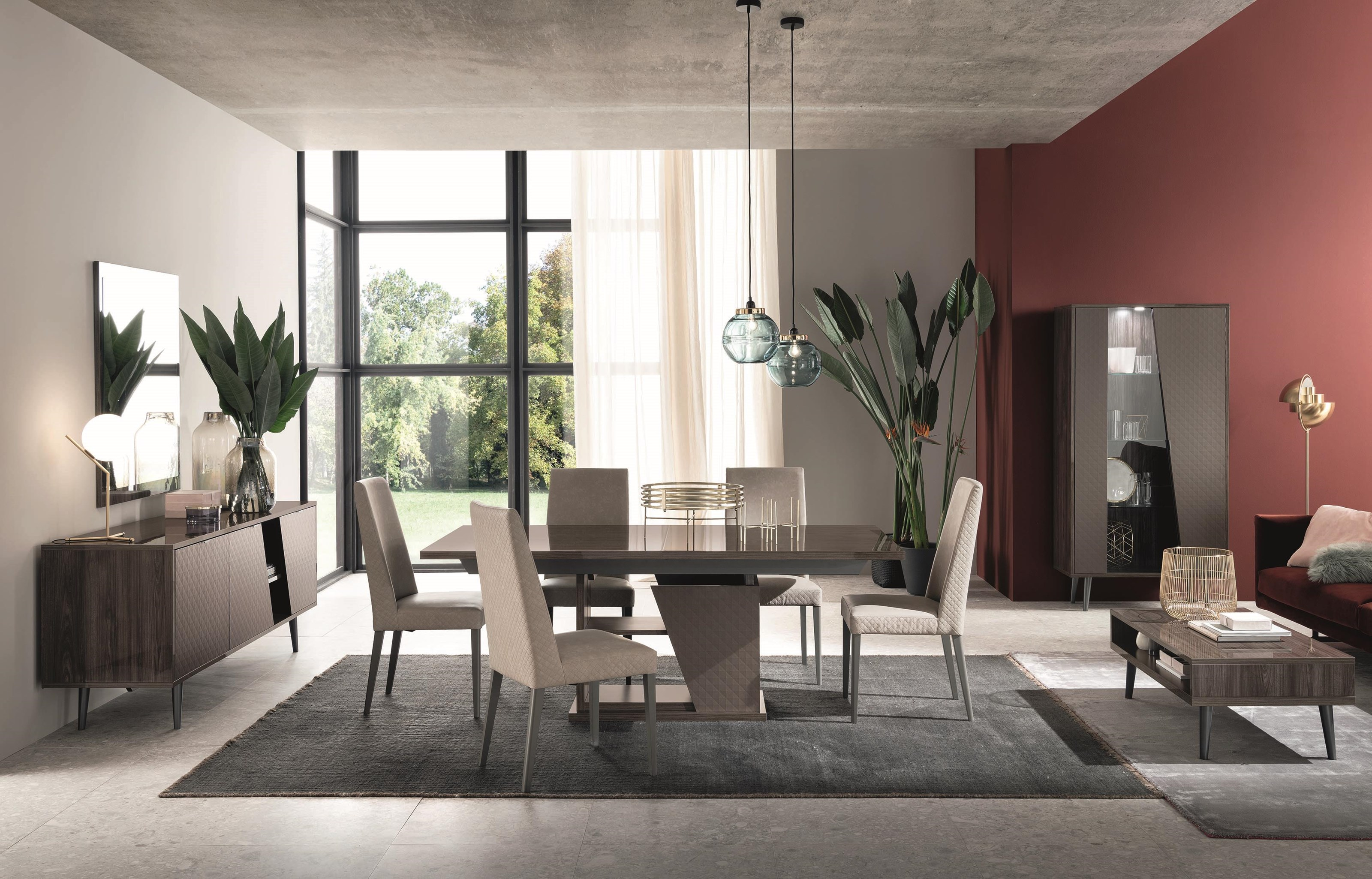 Frida 5 Piece Dining Package by Alf Italia at HomeWorld Furniture