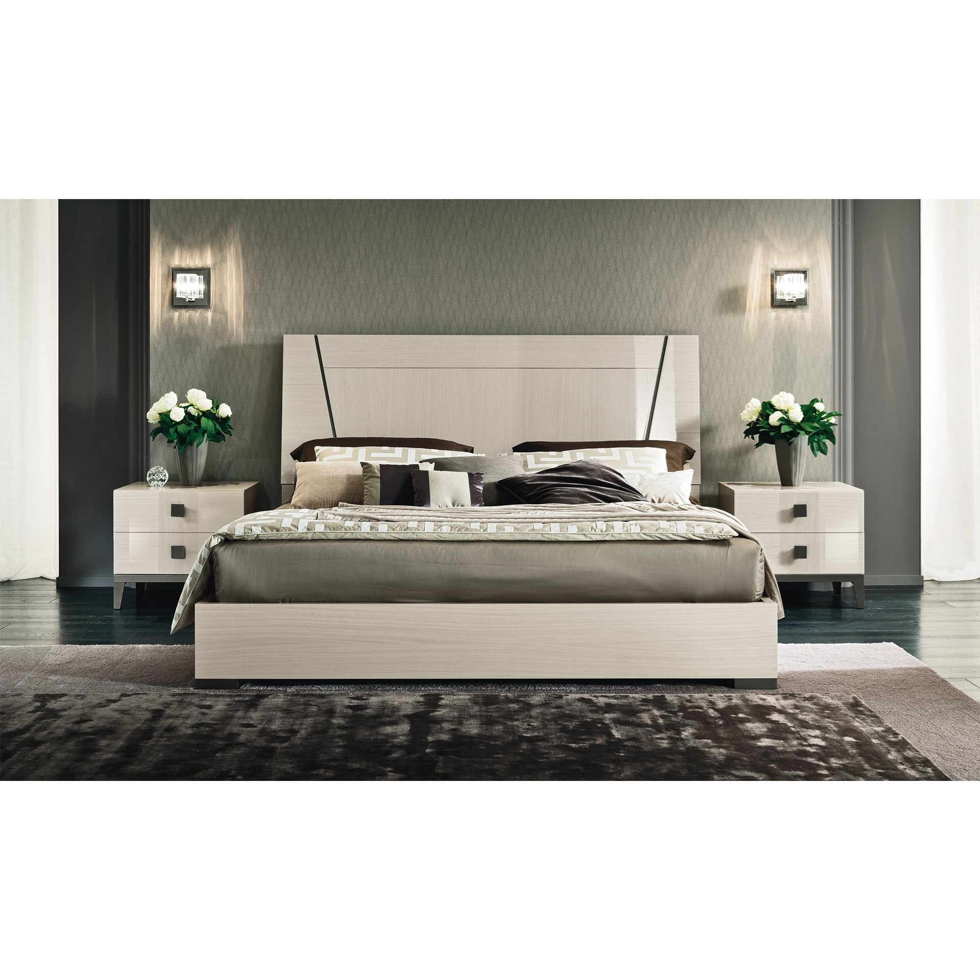 Mont Blanc King Bedroom Group by Alf Italia at Upper Room Home Furnishings