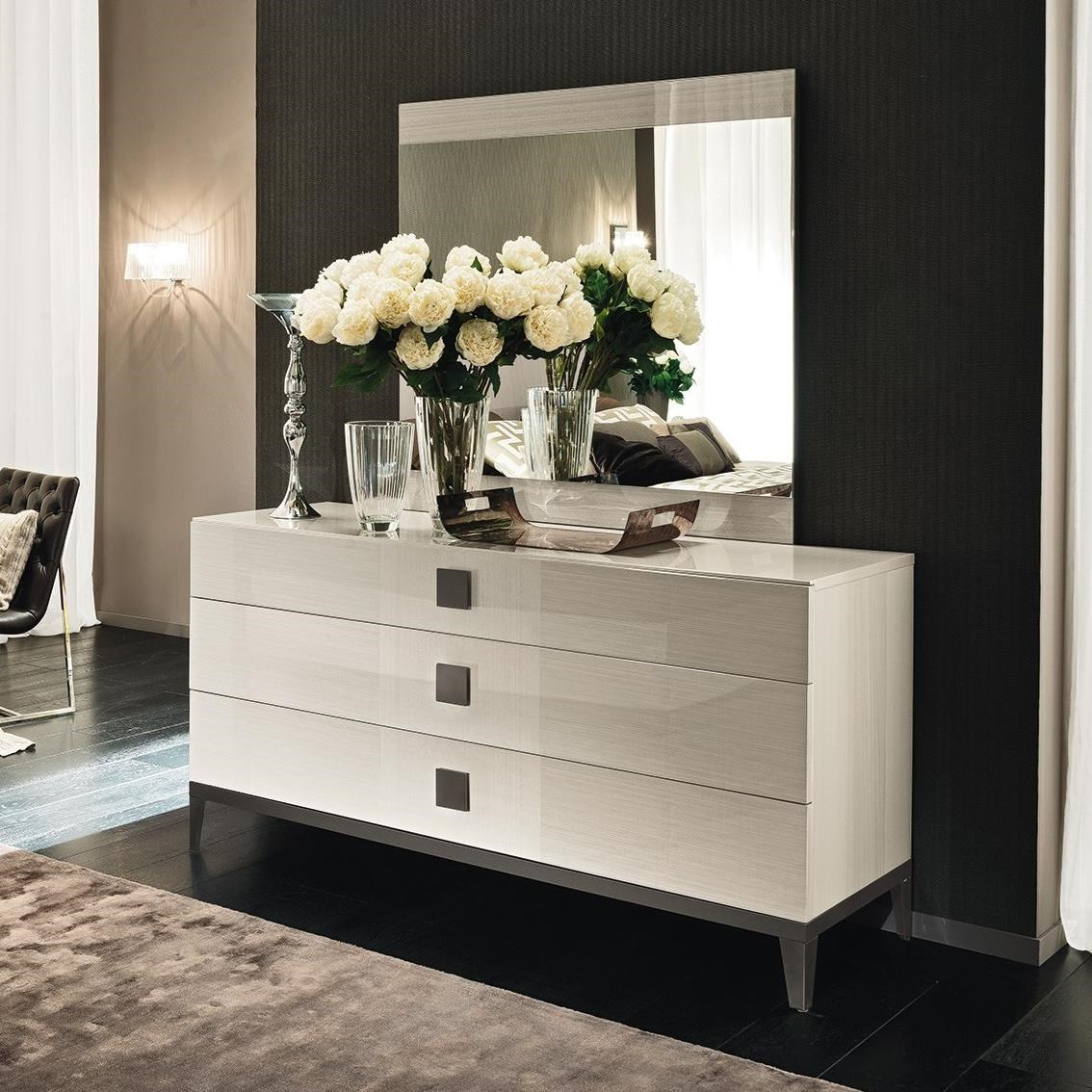 Mont Blanc 3 Drawer Dresser and Mirror by Alf Italia at Upper Room Home Furnishings
