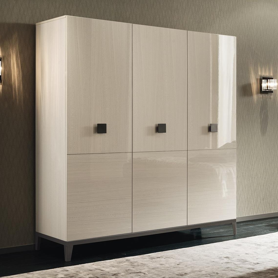 Mont Blanc 3 Door Swinging Wardrobe by Alf Italia at Upper Room Home Furnishings