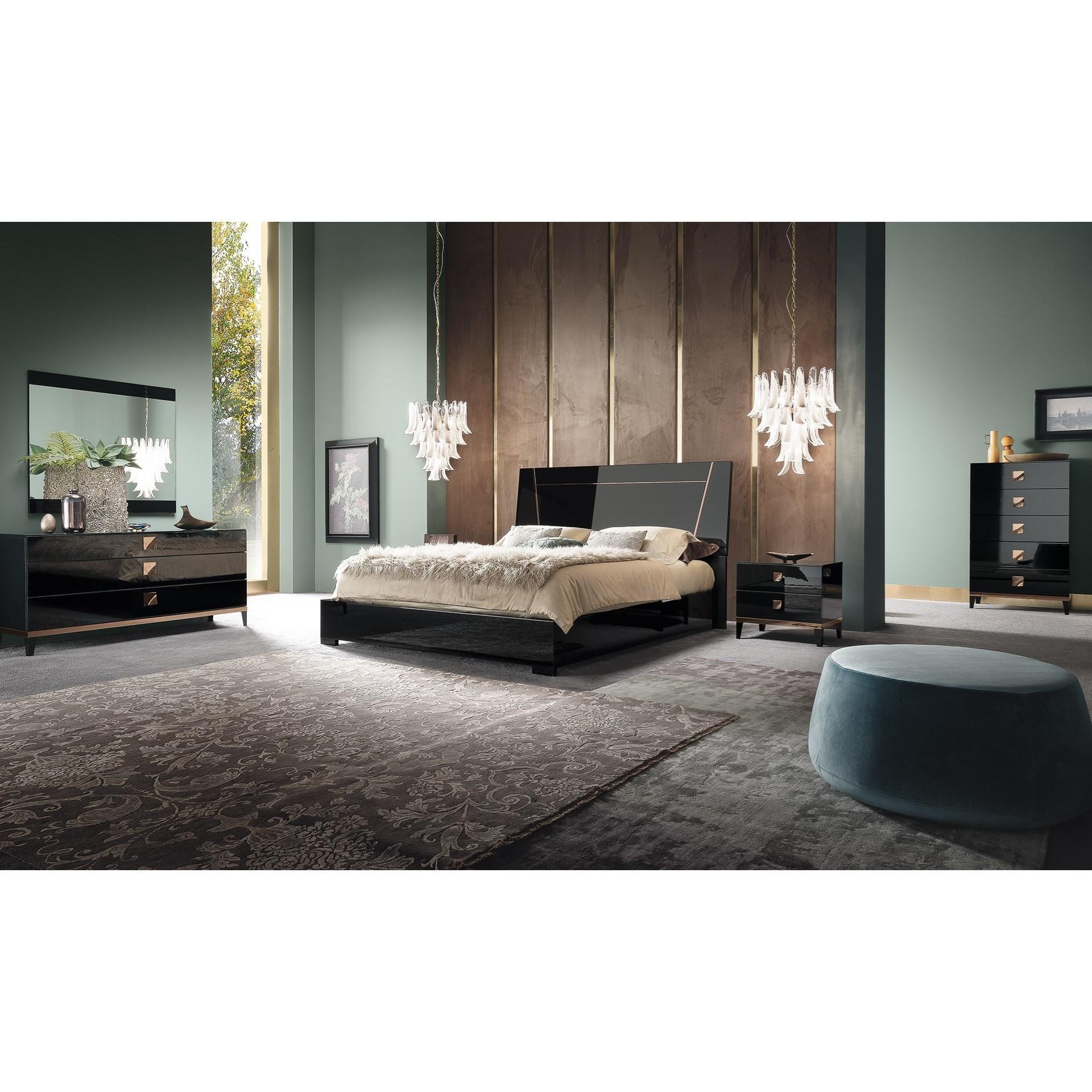Mont Noir Queen Bedroom Group by Alf Italia at Corner Furniture
