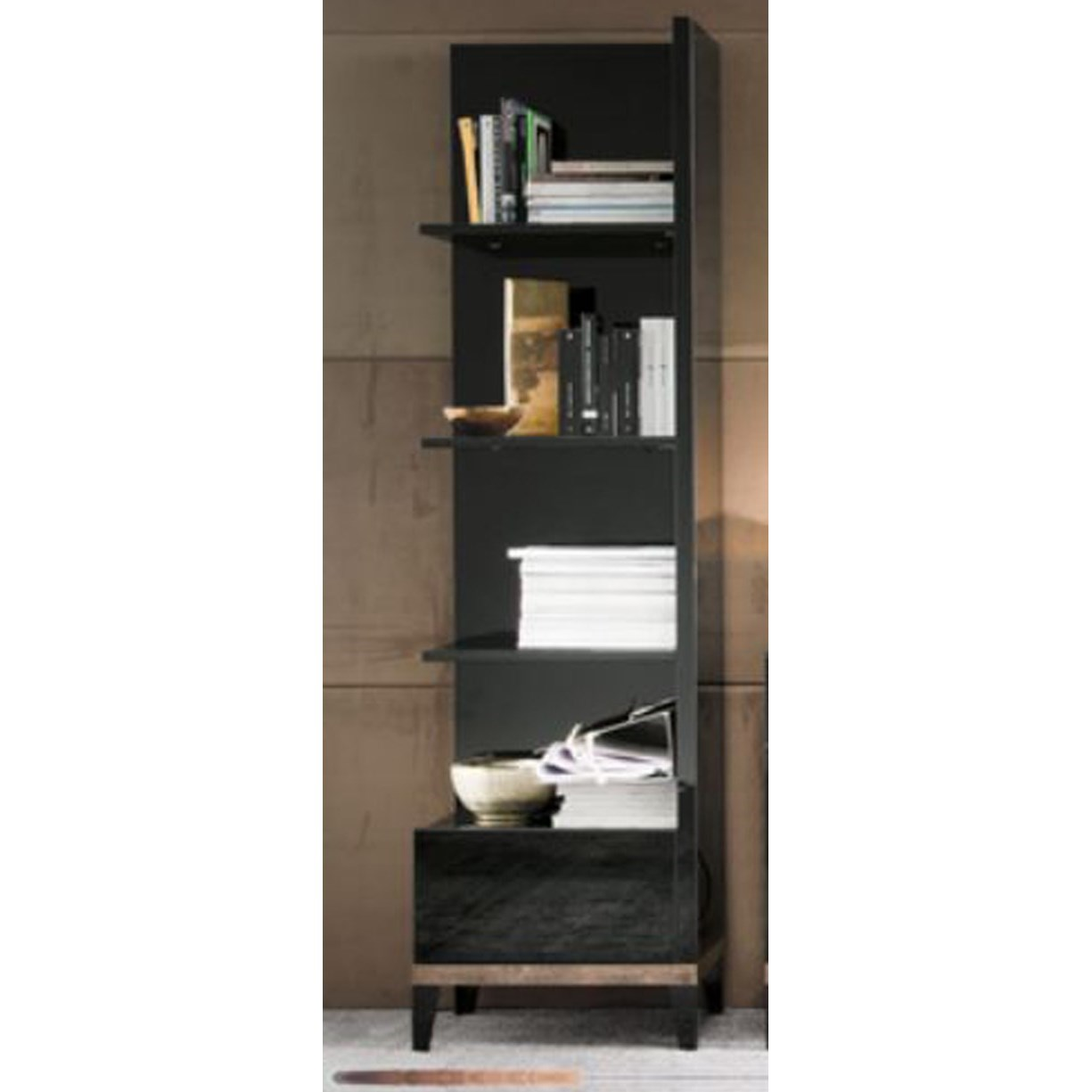 Mont Noir Right Bookcase by Alf Italia at Corner Furniture