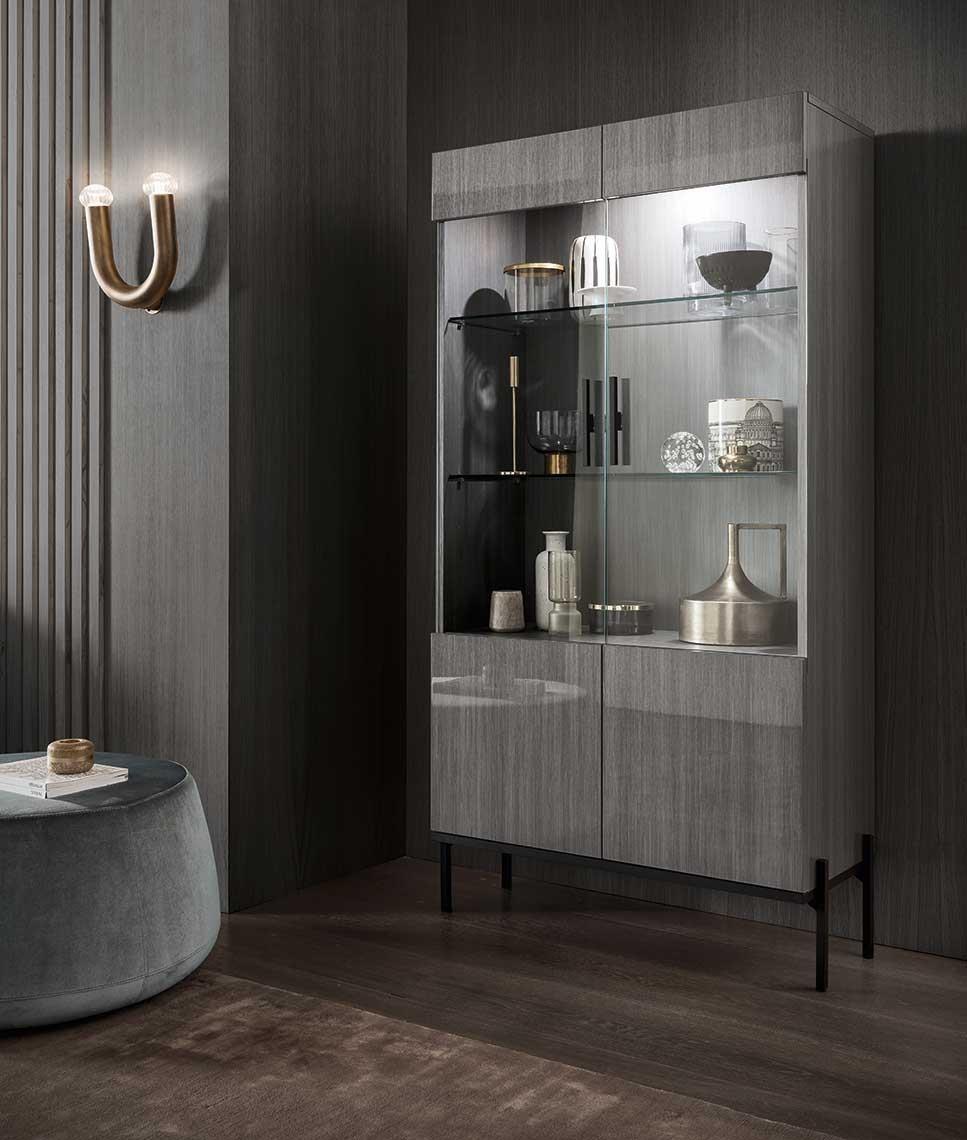Novecento Curio Cabinet by Alf Italia at HomeWorld Furniture