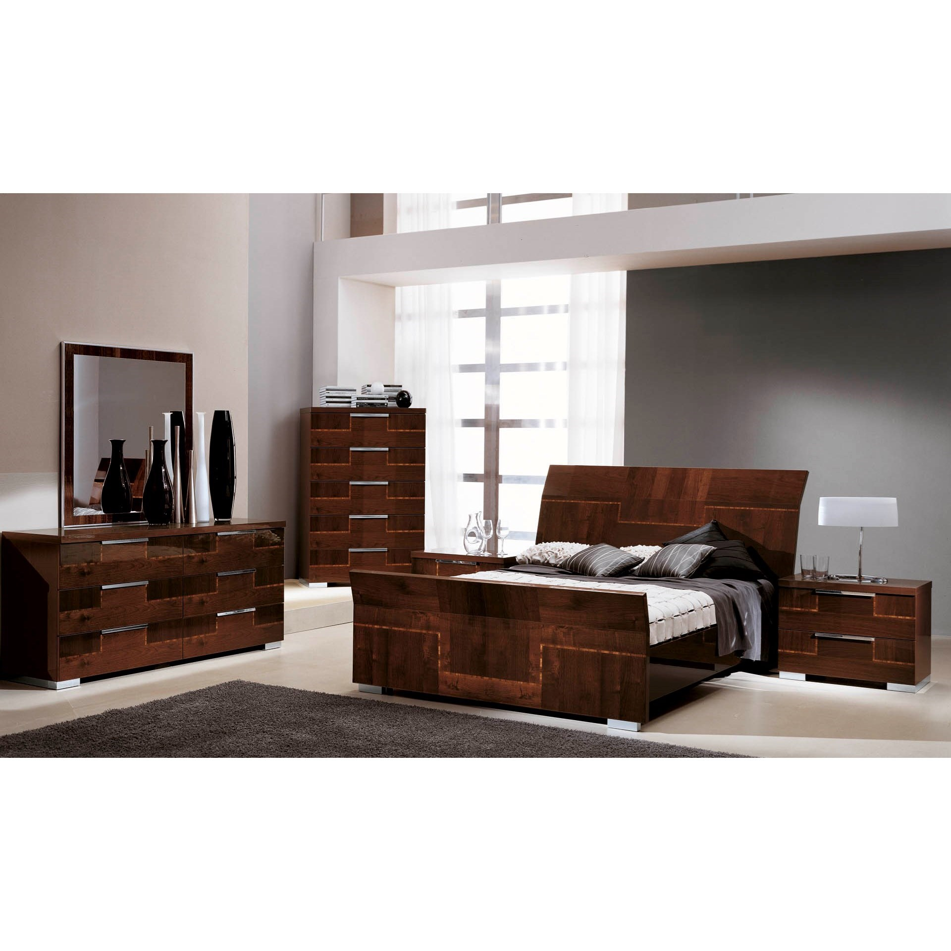 Pisa King Bedroom Group by Alf Italia at Corner Furniture