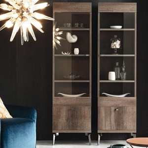 Vega Right Bookcase with Drawer