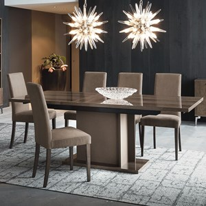 "Vega Table and Chair Set with 18"" Table Leaf"