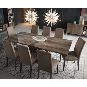 """Vega Table and Chair Set with 18"""" Table Leaf"""