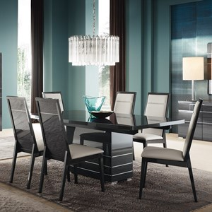 Contemporary Rectangle Table and Chair Set