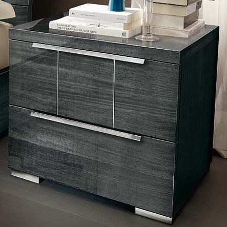 Versilia Modern 2-Drawer Nightstand by Alf Italia at Stoney Creek Furniture