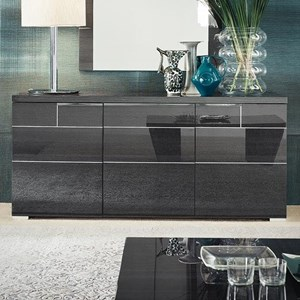 Contemporary Dining Buffet with Pull Out Shelf