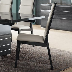 Contemporary Dining Chair with Upholstered Seat and Seatback